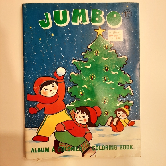Vintage Christmas colouring book unused canadian
